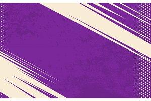 Vector Comic Book Background. Grunge halftone background. Violet striped backdrop