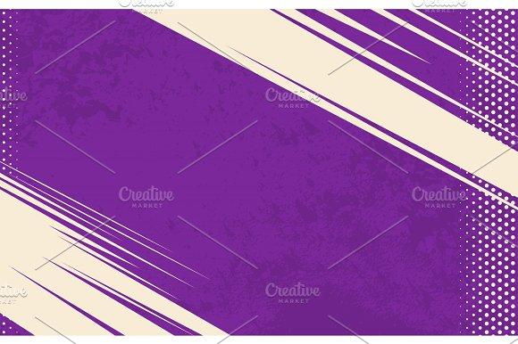 Vector Comic Book Background Grunge Halftone Background Violet Striped Backdrop