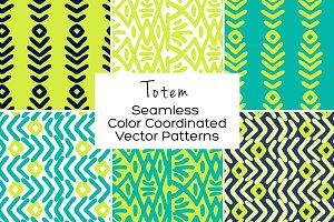 Totem Seamless Vector Patterns