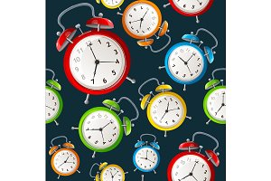 Alarm Clock Pattern Background.