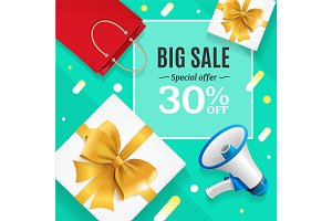 Big Sale Banner Card or Poster.