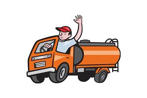 4 Wheeler Tanker Truck Driver