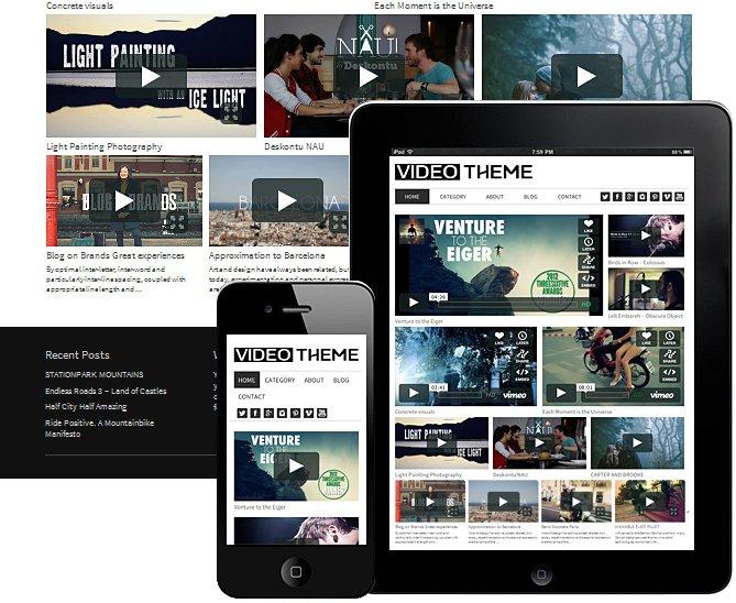 Video Responsive WordPress Theme - WordPress Themes | Creative ...