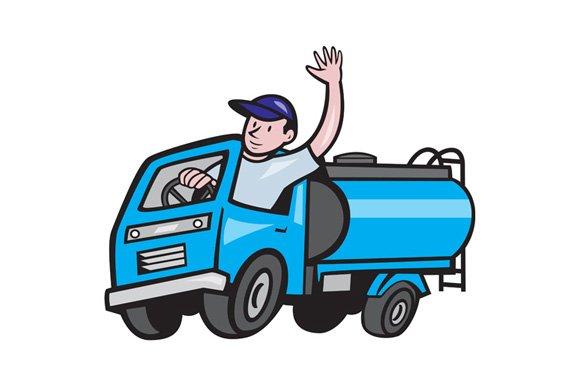 Baby Tanker Truck Driver Waving