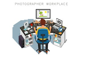 Photographer workplace