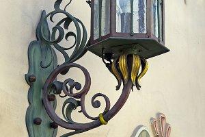 Stylized antique lamp