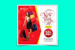 New year sale Instagram banner