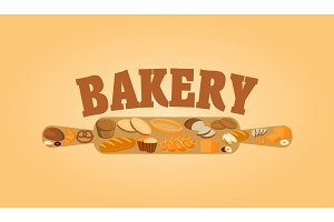 Bakery poster design concept