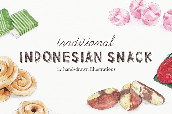 Traditional Snack Illustrations