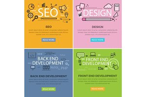 Set of Internet Technology Vector Web Banners