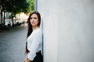 Beautiful woman posing at camera
