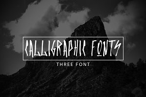 Set of three calligraphic fonts