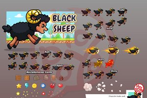 Black Sheep Game Sprites