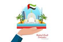 United Arab Emirates Flat Style Vector Concept