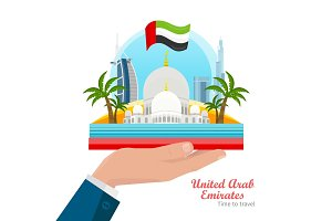 United Arab Emirates Flat Style Vector Concept