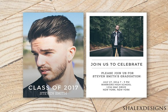 graduation announcement invitation templates creative market