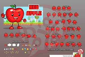 Red Apple Game Sprites