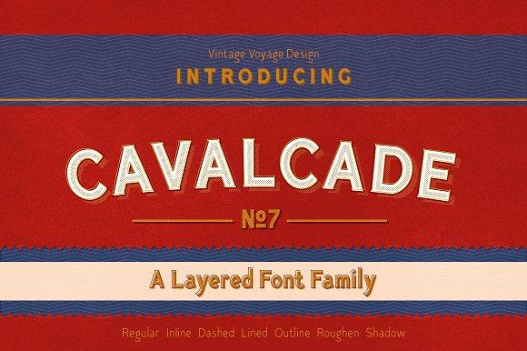 Cavalcade Layered Font 30%