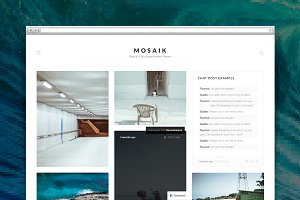 Mosaik tumblr theme