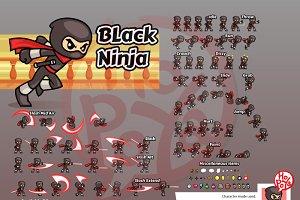 Black Ninja Game Sprites