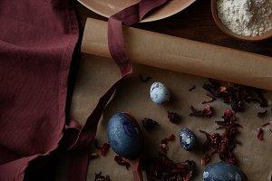Preparing of easter eggs