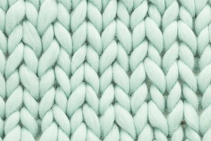Mint woolen, fluffy sweate