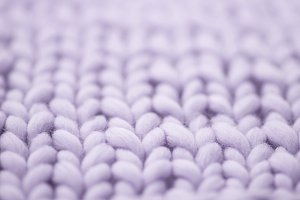 Purple woolen, fluffy sweater