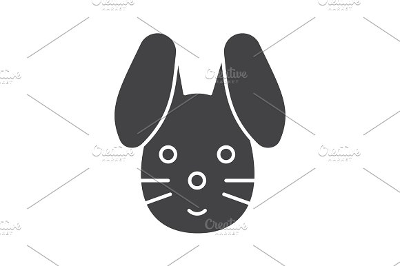 Easter bunny glyph icon