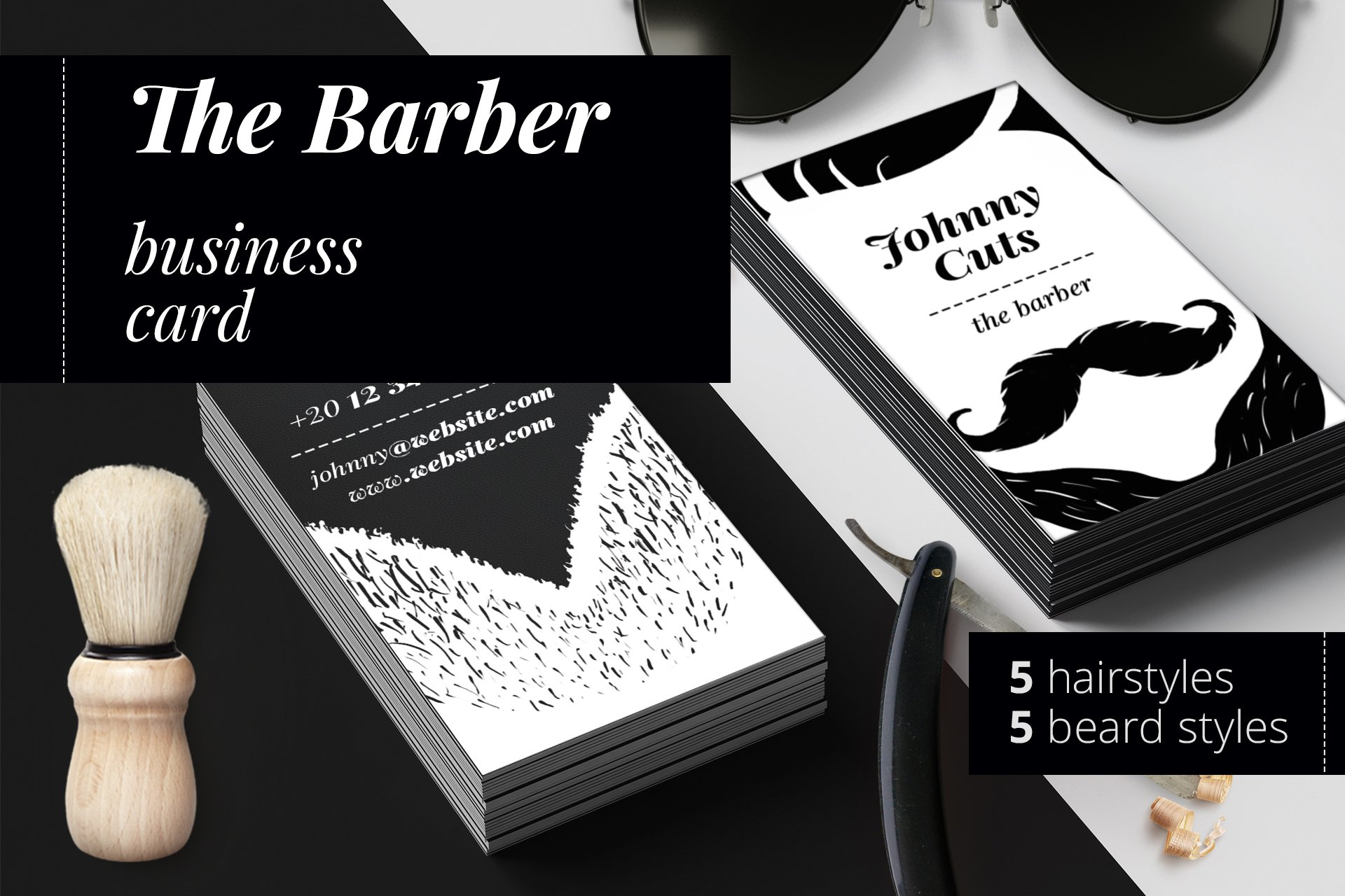 Salon Business Card Template ~ Business Card Templates ~ Creative Market