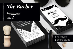 The Barber Business Cards Templates