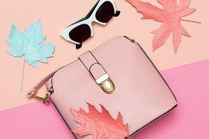 Pink Bag and retro sunglasses