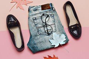 Denim and fashion shoes