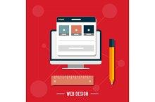 Icon for web design, seo, social med
