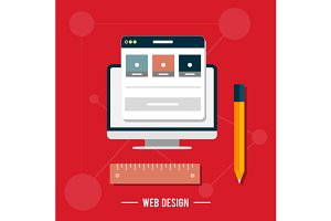 Icon for web design, seo, social med