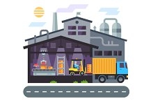 Warehouse building. Delivery