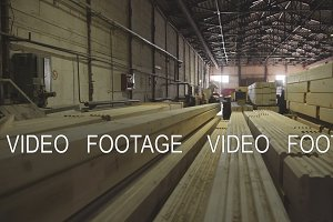 Wood Factory general plan: the production of laminated veneer lumber.