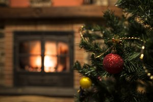 Christmas tree and hearth