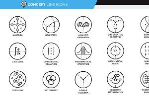 Concept Line Icons - Math