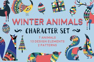 Winter Animals Character Set