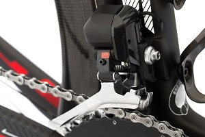 Electronic shifting for road bike.