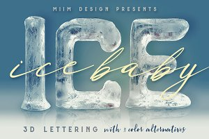Ice Ice Baby - 3D Lettering