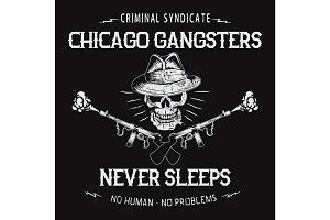 chicago gangsters skull