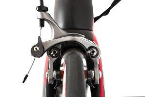 Dual pivot caliper of a road bike