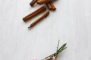 flowers and cinnamon