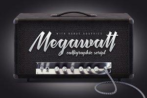 Megawatt font + Bonus