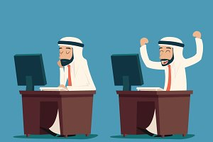Arab Businessman at Desk