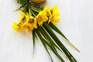 lemon with flowers