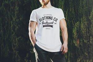 White Blank t-shirt mockup 01