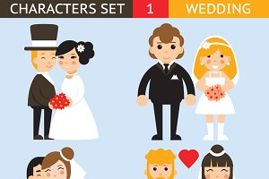 Wedding characters set