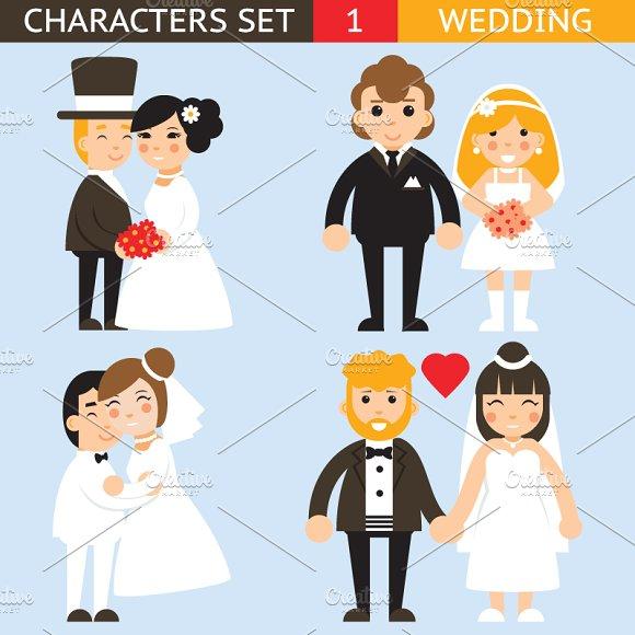 Wedding Characters Set